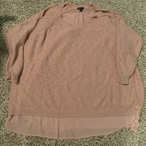 Torrid Sweater with Cut Out Shoulders